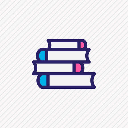 Vector illustration of lecture icon colored line. Beautiful book reading element also can be used as bookshelf icon element.