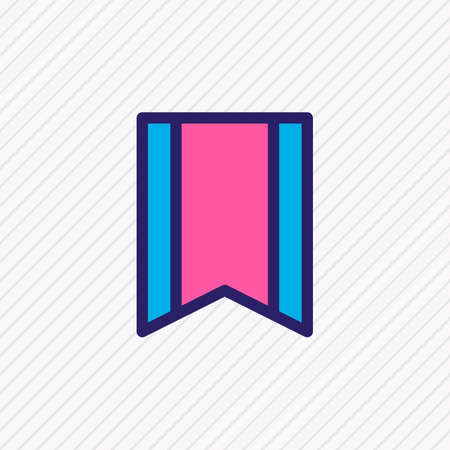 Vector illustration of bookmark icon colored line. Beautiful app element also can be used as pennant icon element. 向量圖像