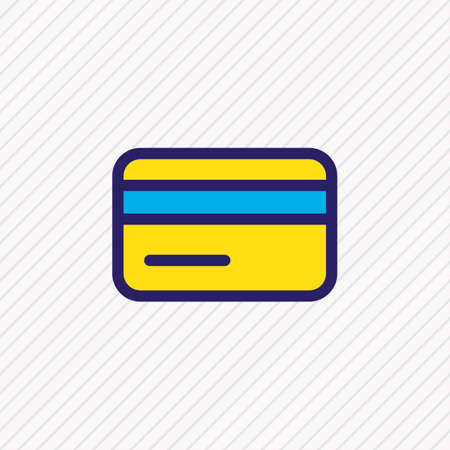 Vector illustration of credit card icon colored line. Beautiful annex element also can be used as payment icon element.