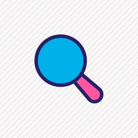 Vector illustration of search icon colored line. Beautiful application element also can be used as magnifier icon element. 向量圖像