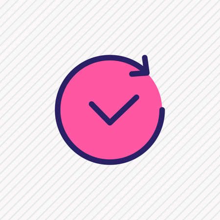 illustration of future icon colored line. Beautiful app element also can be used as time icon element.