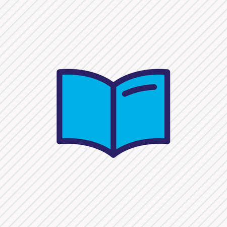 illustration of handbook icon colored line. Beautiful read element also can be used as learning icon element.