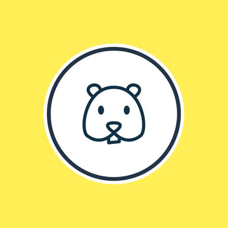 illustration of hamster icon line. Beautiful animal element also can be used as rodent icon element.
