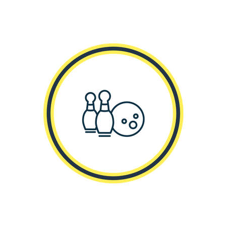 Vector illustration of bowling icon line. Beautiful activities element also can be used as skittles icon element. Illustration
