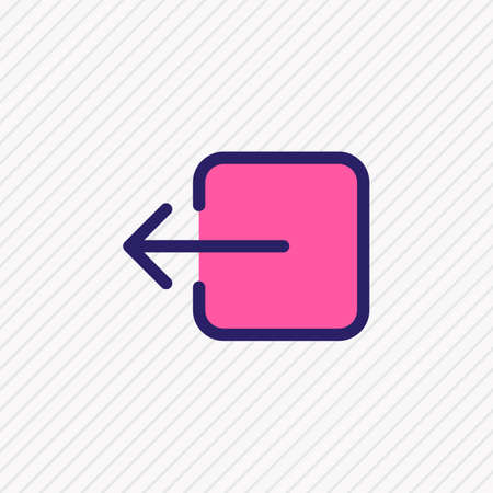 illustration of sign out icon colored line. Beautiful annex element also can be used as exit icon element.