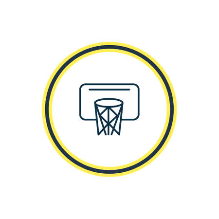 Vector illustration of basketball icon line. Beautiful hobby element also can be used as sport icon element.
