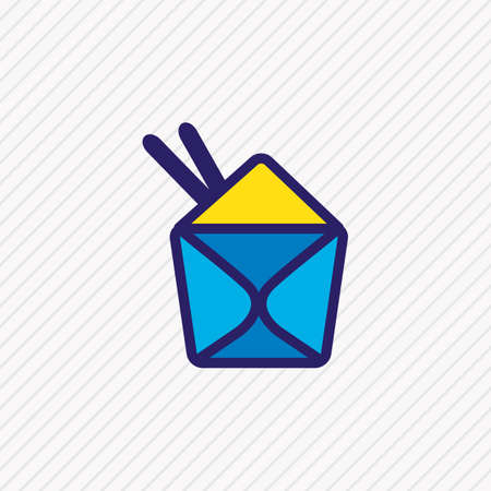 illustration of chinese food icon colored line. Beautiful event element also can be used as noodle box icon element.