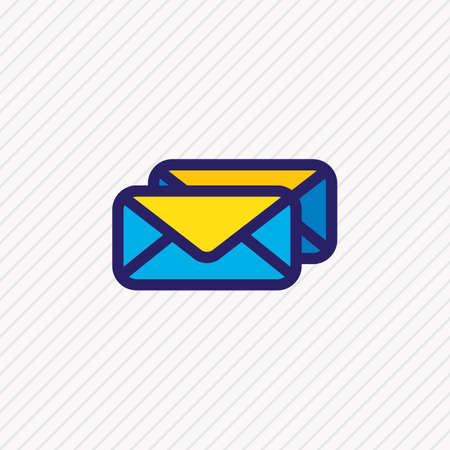 Vector illustration of mails icon colored line. Beautiful connect element also can be used as message icon element. Ilustrace