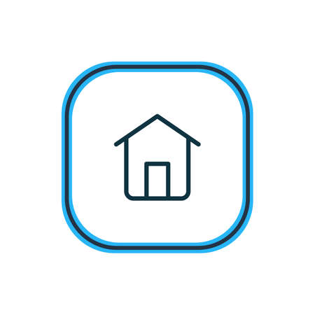 Vector illustration of house icon line. Beautiful contact element also can be used as home icon element. Ilustração