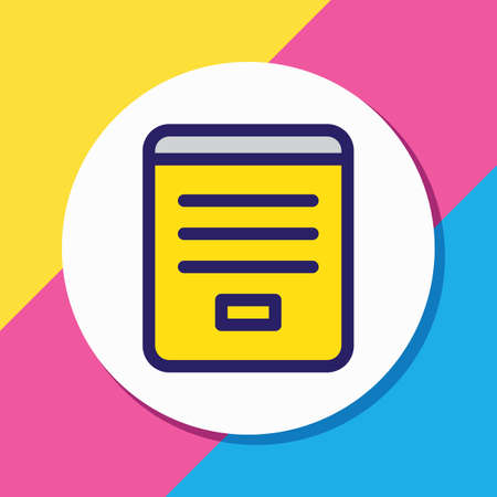 Vector illustration of contact form icon colored line. Beautiful contact element also can be used as registration icon element. Illustration