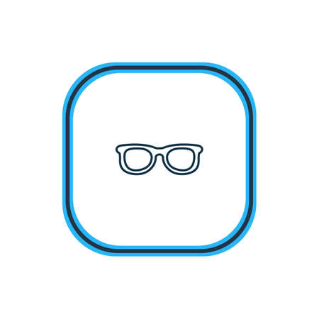 Vector illustration of sunglasses icon line. Beautiful hotel element also can be used as eyeglasses icon element.