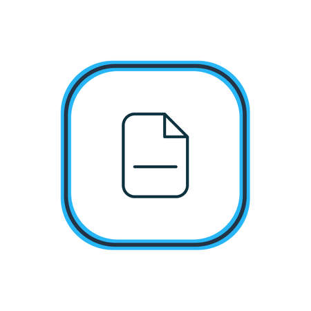 illustration of remove icon line. Beautiful office element also can be used as minus  icon element.