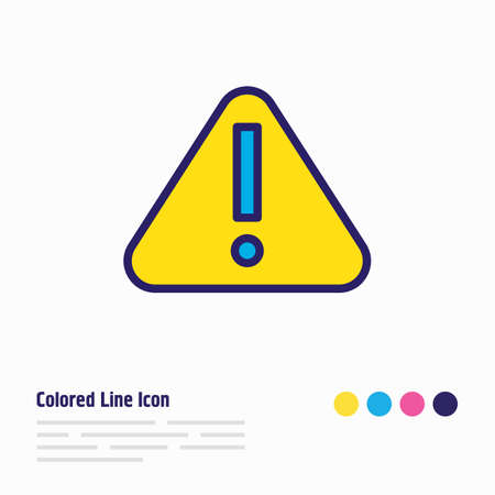 Vector illustration of attention icon colored line. Beautiful necessity element also can be used as warning icon element.