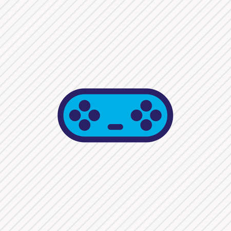 Vector illustration of game controller icon colored line. Beautiful entertainment element also can be used as joystick icon element.