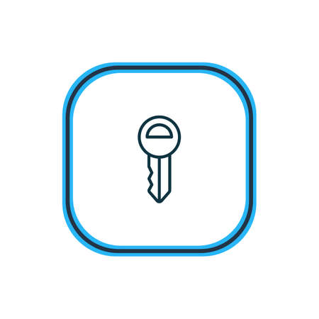 Vector illustration of key icon line. Beautiful trading element also can be used as clef icon element.