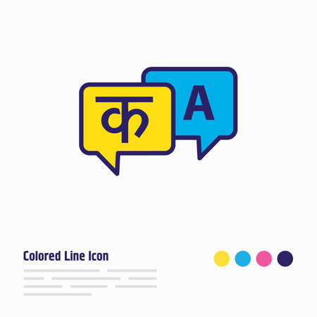 illustration of languages icon colored line. Beautiful lifestyle element also can be used as translation icon element. Stok Fotoğraf