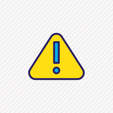 illustration of attention icon colored line. Beautiful emergency element also can be used as warning icon element. 写真素材 - 112040890