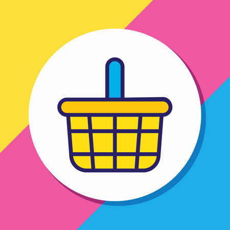 illustration of basket icon colored line. Beautiful wholesale element also can be used as shopping icon element.