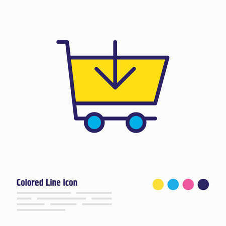 Vector illustration of add to cart icon colored line. Beautiful wholesale element also can be used as buy icon element.