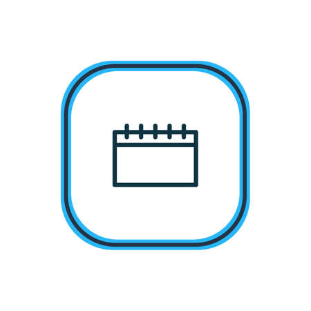 illustration of calendar icon line. Beautiful entertainment element also can be used as timetable icon element. Standard-Bild