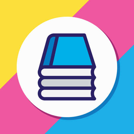 illustration of knowledge icon colored line. Beautiful read element also can be used as library icon element. 写真素材