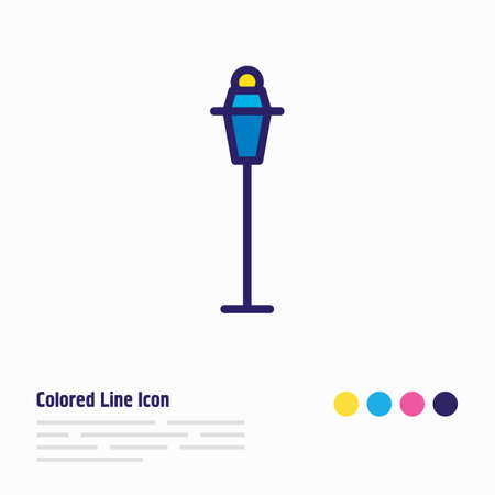 Vector illustration of street light icon colored line. Beautiful infrastructure element also can be used as streetlamp icon element. 矢量图像