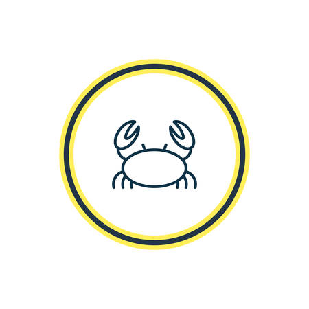 Vector illustration of marine crab icon line. Beautiful marine element also can be used as cancer icon element.