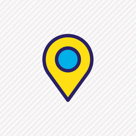 Vector illustration of location icon colored line. Beautiful contact element also can be used as pin icon element. Illustration