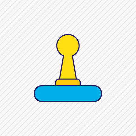 illustration of joystick icon colored line. Beautiful notebook element also can be used as game controller icon element. Stok Fotoğraf