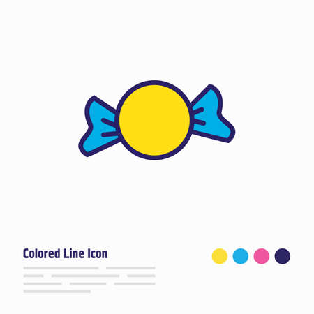 illustration of candy icon colored line. Beautiful event element also can be used as bonbon icon element.