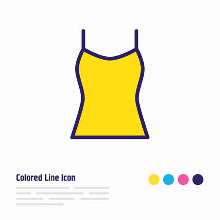 Vector illustration of tank icon colored line. Beautiful clothes element also can be used as singlet icon element. Illustration