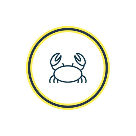 illustration of marine crab icon line. Beautiful nautical element also can be used as cancer icon element.