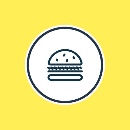 illustration of burger icon line. Beautiful party element also can be used as sandwich icon element.