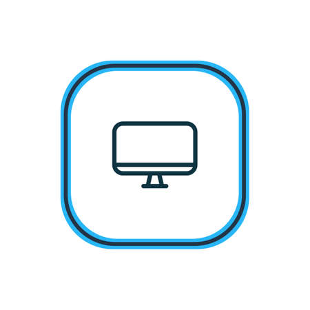 Vector illustration of monitor icon line. Beautiful lifestyle element also can be used as display icon element. Ilustração