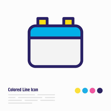 Vector illustration of calendar icon colored line. Beautiful annex element also can be used as date icon element. Illusztráció