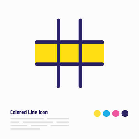 Vector illustration of grid icon colored line. Beautiful annex element also can be used as hashtag icon element.