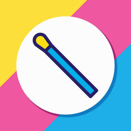 Vector illustration of match icon colored line. Beautiful camping element also can be used as matchstick icon element. Illustration