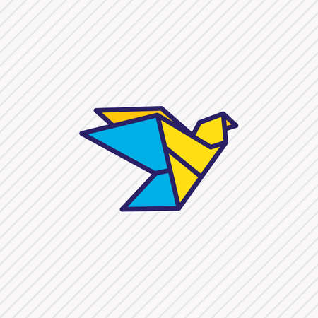 illustration of origami icon colored line. Beautiful lifestyle element also can be used as paper figure icon element. Zdjęcie Seryjne