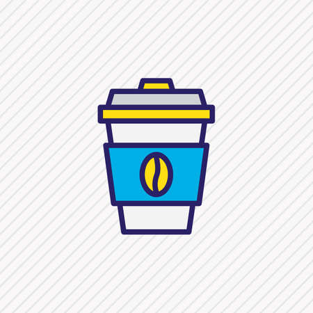 Vector illustration of coffee icon colored line. Beautiful activities element also can be used as decaf icon element.