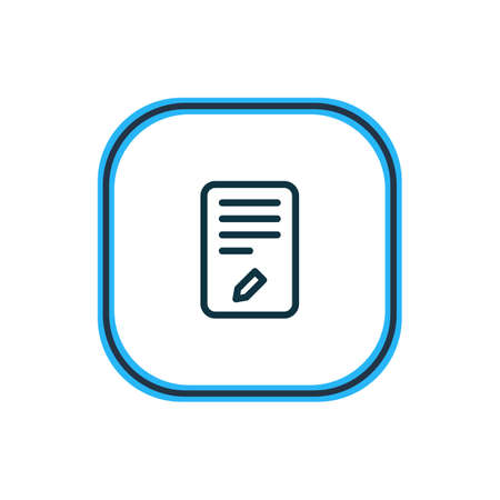 Vector illustration of edit icon line. Beautiful office element also can be used as writing icon element.