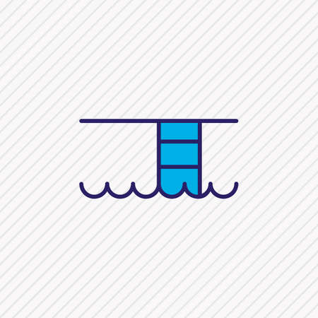 Vector illustration of swimming pool icon colored line. Beautiful travel element also can be used as breaststroke icon element.