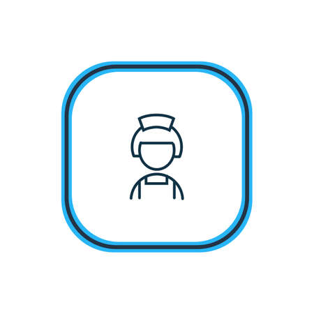illustration of hotel maid icon line. Beautiful vacation element also can be used as housewife icon element.