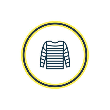 illustration of stripped vest icon line. Beautiful sea element also can be used as shirt icon element.