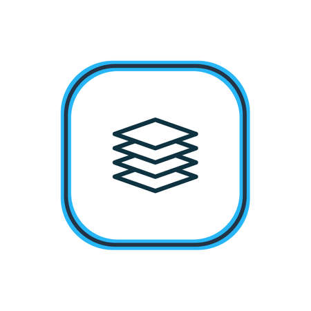 Vector illustration of stack icon line. Beautiful network element also can be used as database icon element.