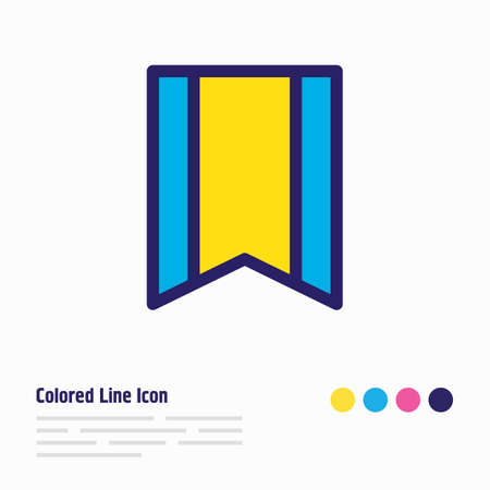 Vector illustration of bookmark icon colored line. Beautiful book reading element also can be used as ribbon icon element. Illustration