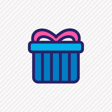 Vector illustration of gift icon colored line. Beautiful party element also can be used as surprise icon element. Vettoriali