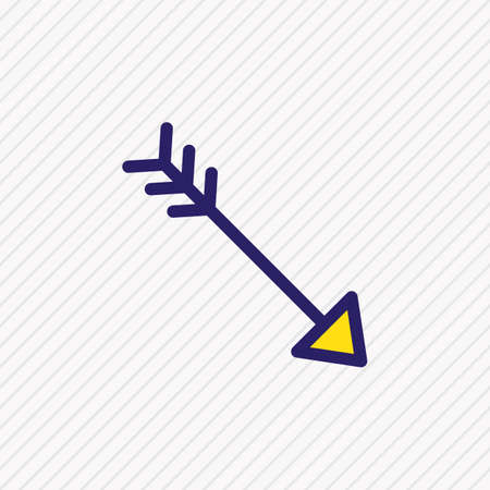 illustration of arrow icon colored line. Beautiful joy element also can be used as bow icon element.