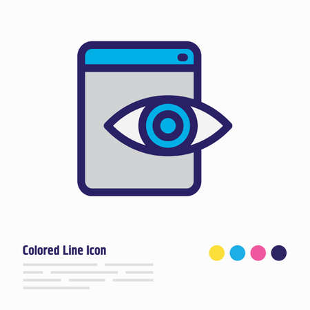 Vector illustration of web visibility icon colored line. Beautiful marketing element also can be used as view icon element. Illustration