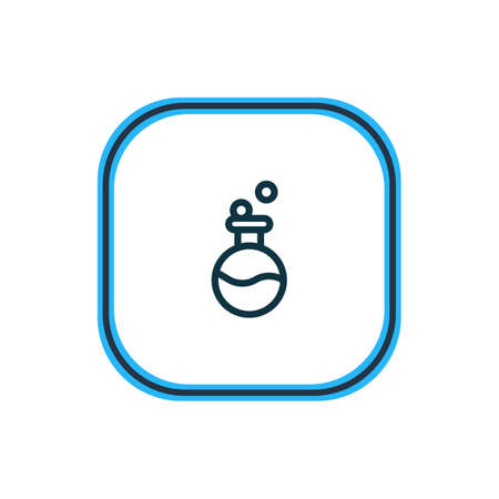 Vector illustration of flask icon line. Beautiful entertainment element also can be used as laboratory icon element.