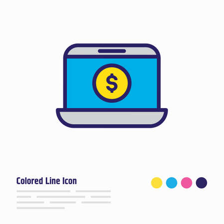 Vector illustration of e-commerce icon colored line. Beautiful wholesale element also can be used as online shop icon element.